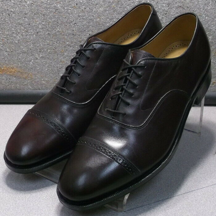2408565 MS50 chaussures hommes Taille 8.5 Eee Bourgogne lacets en cuir Johnston & Murphy