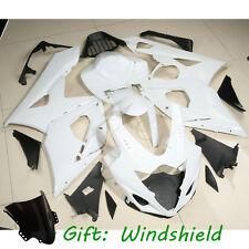 Unpainted White ABS Injection Mold Fairing Cowl For SUZUKI GSXR 1000 2005-06 K5