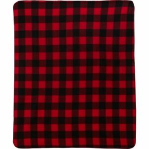 Northpoint-Fleece-Throw-Blanket-50-034-X-60-034-NEW-Buffalo-Check-Red-Black-Plaid