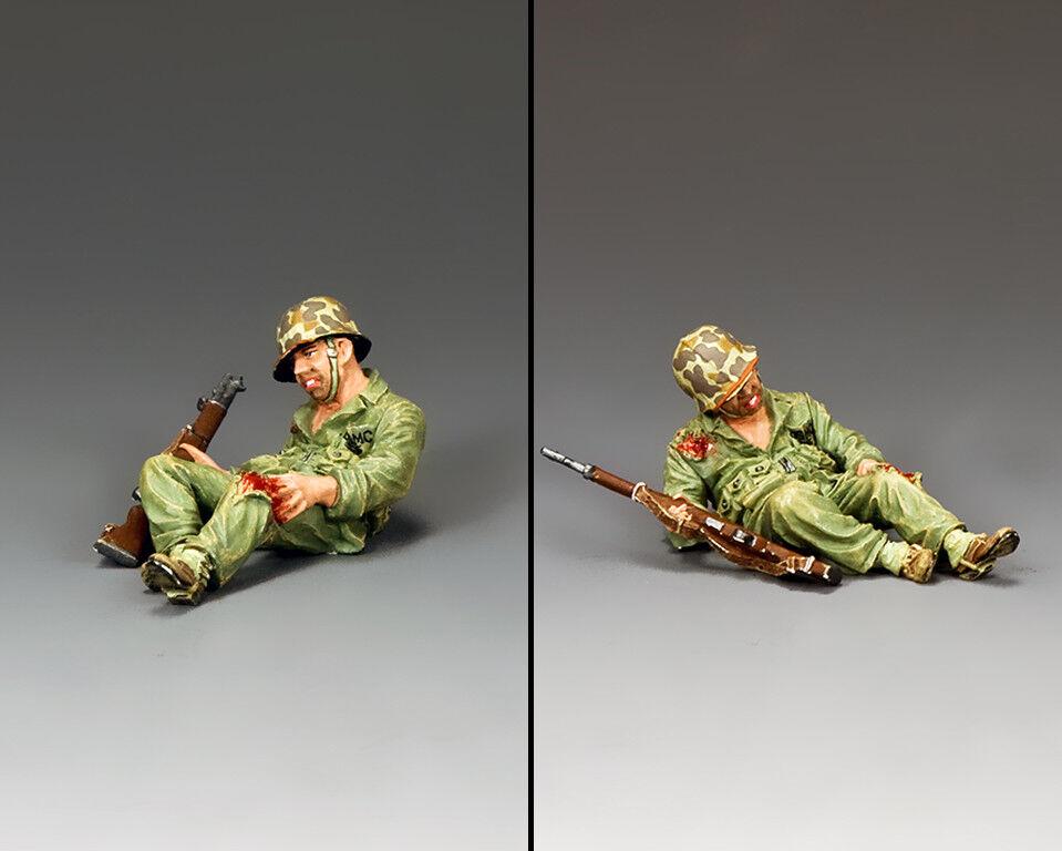 KING & COUNTRY U.S.M.C. USMC032 U.S. MARINE KNEELING WOUNDED MIB