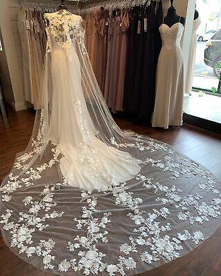 Bridal Boleros Jacket White Ivory Long Wedding Capes Cloaks Tulle Appliques Lace