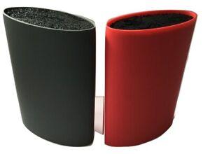 Red-Grey-Oval-Knife-Block-Knife-Storage-Grey-Knife-Block-Oval-Knife-Block