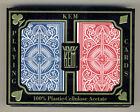 2 Deck Kem 100% Plastic Arrow Red Blue Bridge Narrow Regular Index Playing Cards