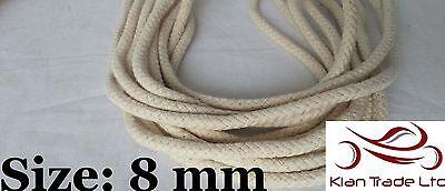 Natural 100% Cotton Braided Rope SASH Cord Bondage Bag Handle Pulley strings