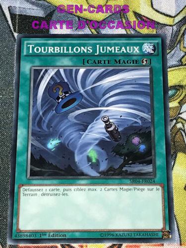 OCCASION Carte Yu Gi Oh TOURBILLONS JUMEAUX SR04-FR024