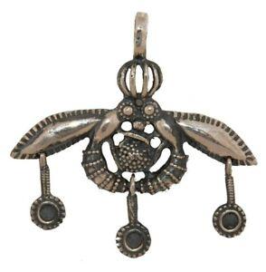 Malia Bees Minoan Cretan Solid Pendant Silver Sterling 925 Gold Plated Handmade 0.98in