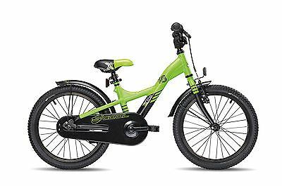 Kinderrad Scool XXlite 18 Zoll 1-Gang lemon black matt 2018 ab 5 Jahre5023
