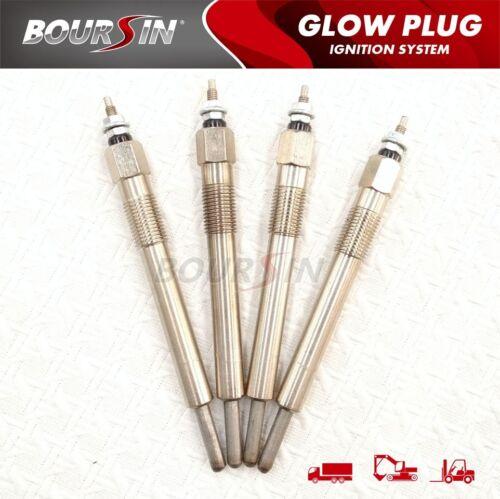 12V 4x Glow Plug For ISUZU ELF150 250 350 4JA1 4JA1T 4JB1 4JB1T Engine Diesel