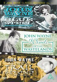 1 of 1 - 3 John Wayne Classic Westerns Vol. 1 - Blue Steel / The Trail Beyond *FREE P+P*