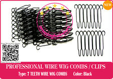 14 PIECES 7 TEETH SMALL WIRE WIG COMBS FOR LACE FRONT HAIR WIGS-HAIRPIECE-TOUPEE