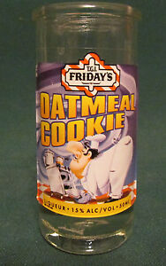 T-G-I-FRIDAY-039-S-OATMEAL-COOKIE-TALL-SHOT-GLASS