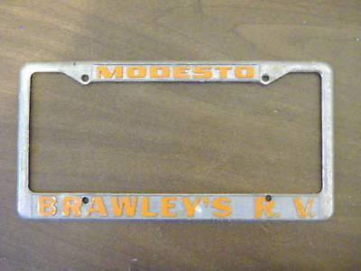 Modesto Ca Braley S Rv Dealership Embossed Metal License