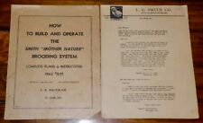 Vintage 1942 The Smith Mother Nature Brooding System Plans For Chick Raising
