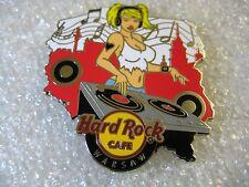 WARSAW,Hard Rock Cafe Pin,Sexy DJ Girl