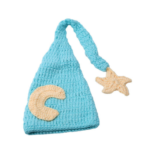 Baby Hat Beanie Costume Knitted Newborn Long Tail Crochet Photography Prop BS
