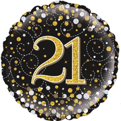 """FOIL /""""ballon dans une boîte/"""" Gonflé 21st Anniversaire mousseux Fizz 18 in environ 45.72 cm"""