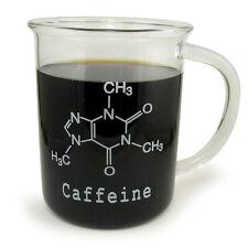 NC-12678, Caffeine Molecule Beaker Mug, Borosilicate Glass, 500ml