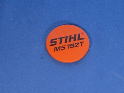 Stihl MS192T placa insignia de etiqueta de modelo 1137 967 1500 Nuevo Oem