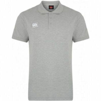 CANTERBURY Mens Classic Grey Marl Waimak Rugby Polo Shirt Small S BNWT