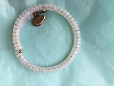 Alex And Ani Gold Vintage Sixty-Six Wrap Bracelet White Beads