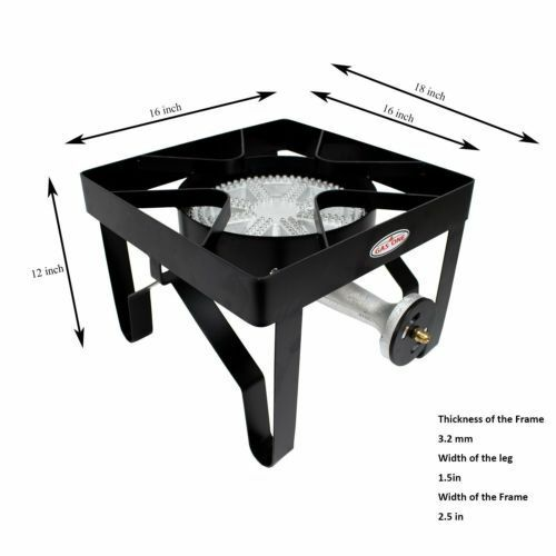 GAS ONE 200,000 BTU Square Heavy- Duty Single Burner Outdoor  Stove Propane Gas  outlet