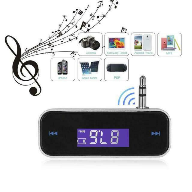 New Wireless Music to Car Radio FM Transmitter For 3.5mm iPod MP3 Phones Tablets