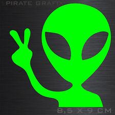 4x Nummernschild Aufkleber Alien Science-Fiction Tuning Kennzeichen Decal