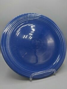 Vintage-Homer-Laughlin-12in-Chop-Cake-Plate-Fiesta-Ware-Cobalt-Blue-Charger