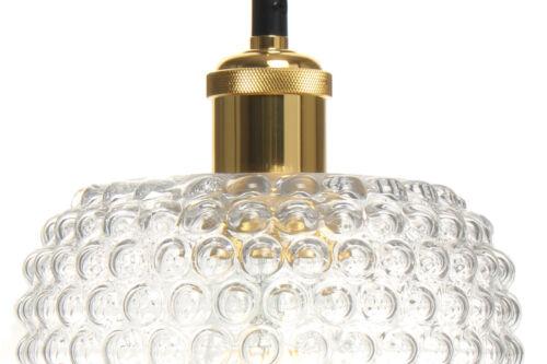 Glaslampe Retro Vintage Design Modern Hängeleuchte Hängelampe Lampe Gold Fassung