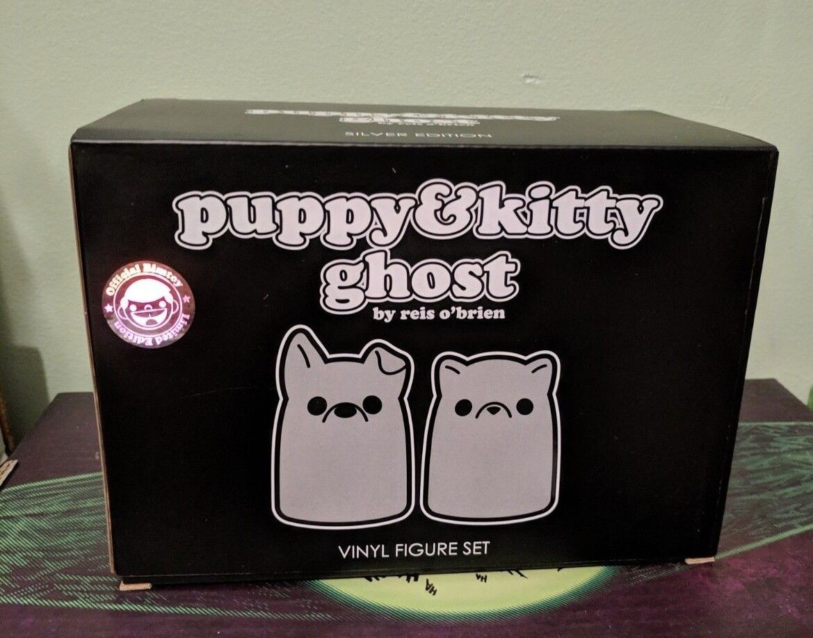 Tiny Fantasma Vinilo Juguete Reis O 'Brien Funko Cachorro Kitty Fantasma argento NYCC Exclusiva