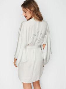 Short Secret Satin Kimono Angel Strass New Victoria di Eqxwwg4XR