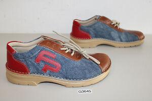 Footprints Tilbury Naturleder Jeans / Rot- Braun Gr. 42 schmal (G3645-R62)