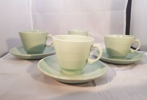 Vintage-Woods-Ware-Beryl-Espresso-cups-and-Saucers-x4