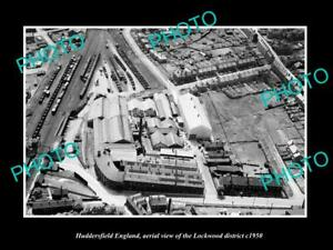 OLD-LARGE-HISTORIC-PHOTO-HUDDERSFIELD-ENGLAND-AERIAL-VIEW-OF-LOCKWOOD-c1950