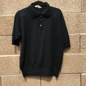 Vintage-Byford-Made-In-England-Black-button-Sweater-Mens-40-L