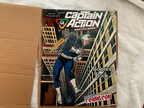 NYCC 2014 Captain Action Coloring Sketch Book NEW!!