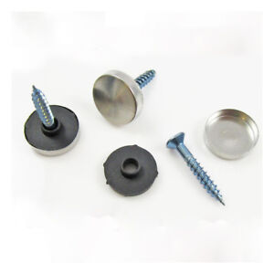 Details about STAINLESS STEEL DECORATIVE *5 SIZES* SCREW CAPS, WASHERS &  SCREWS -SNAP ON COVER