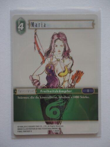 Unfoil Maria 1-083H Hero Final Fantasy tcg OPUS I