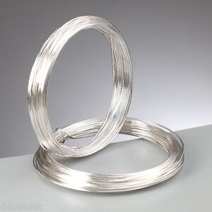 0-8-mm-20-gauge-Silver-Plated-Craft-Jewellery-Florist-Wire-Non-Tarnish-6m