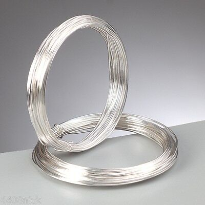 0.8 mm (20 gauge) SILVER PLATED CRAFT/JEWELLERY WIRE x  6 metres