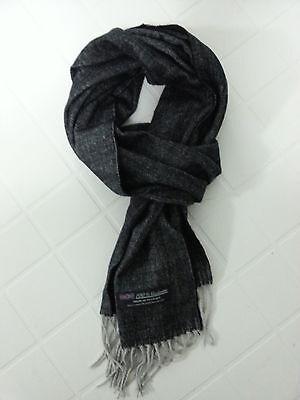 NEW Unisex 100% CASHMERE SCARF Super Soft and Warm Herringbone Gray