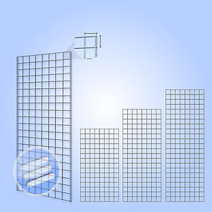 HEAVY-DUTY-GRID-WALL-GRIDWALL-MESH-CHROME-DISPLAY-PANEL-RETAIL-SHOP-ACCESSORIES