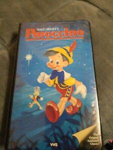 PINOCCHIO Walt Disney BLACK DIAMOND VHS 1985 Black
