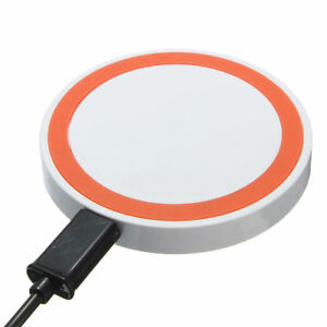 Universal-Disk-Style-Qi-Wireless-Charging-Pad-for-Qi-enabled-Phones-White-Orange