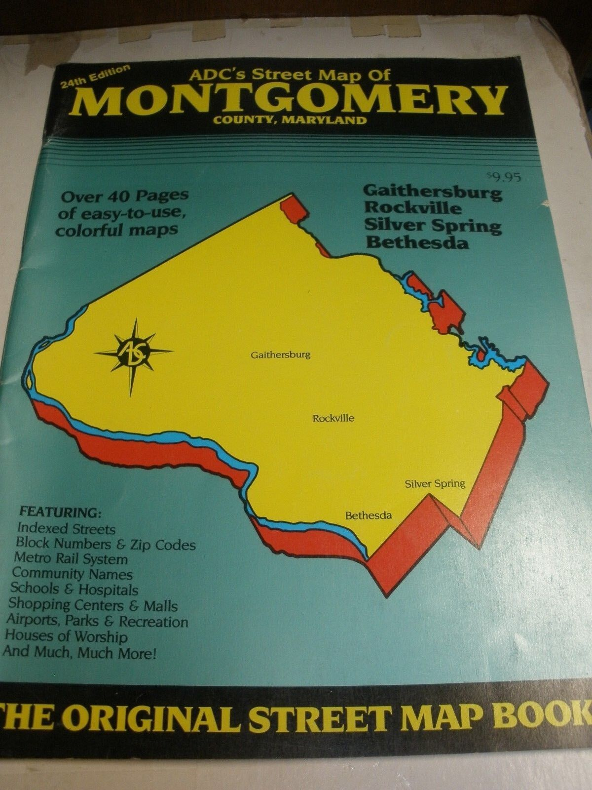 Picture of: Adc S Street Map Of Montgomery County Maryland 24th Edition For Sale Online Ebay