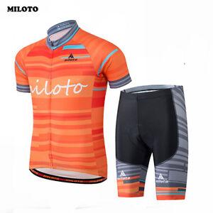 02e55dfd1 MILOTO Mens Cycling Jersey Short Sleeve Bike Sports Bib Shorts Sets ...