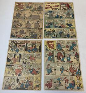 1940-039-s-Ensemble-de-Quatre-Pepsi-Cola-Flic-Bande-Dessinee-Annonce-Pages
