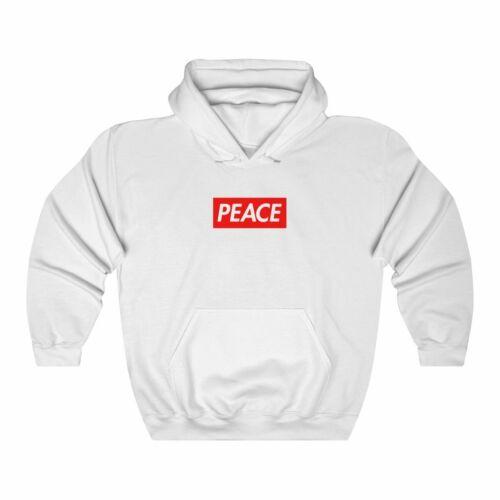 Peace Red Box Logo Unisex Heavy Blend™ Hooded Sweatshirt Supreme Custom Bogo