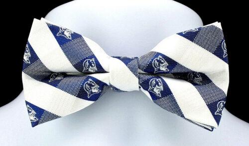 Duke University Blue Devils Plaid Mens Bow Tie Adjustable College Checks Bowtie