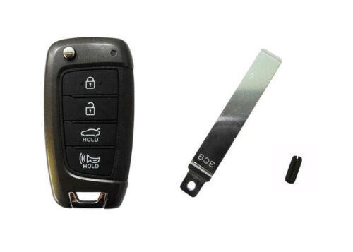 Folding Keyless Entry Transmitter for 2018 2019 Hyundai Elantra GT